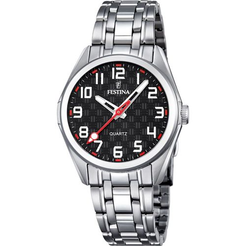 F16903/3 Festina Ladies Black And Red Arabic Bracelet Watch